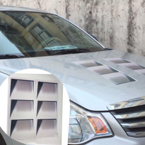2PCS Vivid 3D Fake Car Decoration Hood Vent Air Sticker Waterproof Decal HK K