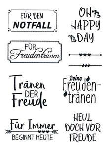 Motiv-Stempel-Clear-stamps-9-Stueck-Sprueche-Freudentraenen-Hochzeit-efco-45-111-87