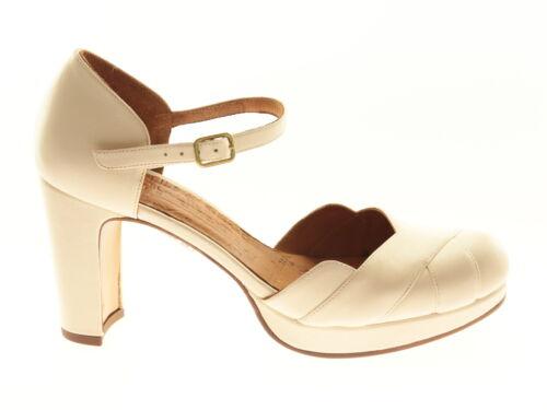 Chie Mihara Bri-Tash Damen-Schuhe Pumps Absatzschuhe Elegant Weiß Leder Spain