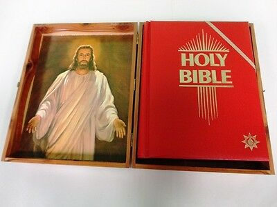 Red Letter Revival.Holy Bible Master Reference Edition Red Letter Wood Case Kjv