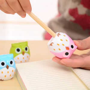 2Pcs-Cute-Lovely-Owl-Pattern-Pencil-Sharpener-Novelty-School-Kids-Stationery