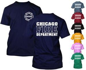 Chicago-Fire-Department-T-shirt-Duty-Shirt-TV-Show-Rescue-Choisissez-Votre-Couleur-Court