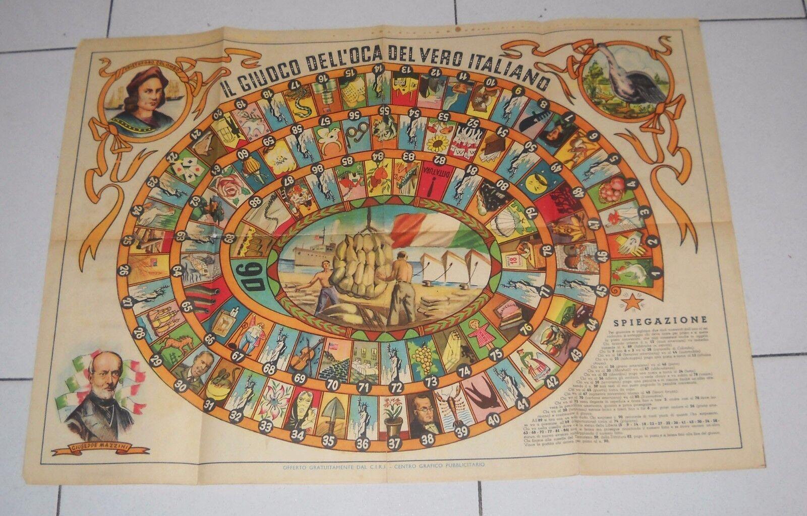 Das Spiel Dell'oca der wahr Italienisch -Kammern 1948 Italien Italien Italien Ebene Marshall 4b1b9b