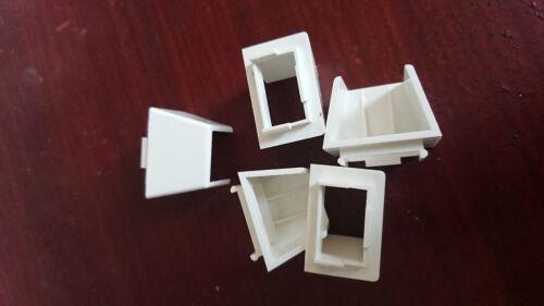 25x16mm Mini Trunking Boîte Adaptateur-Blanc Pack de 5