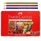 FABER CASTELL 36 Classic Color Pencils in Tin Case Set Art Drawing Painting