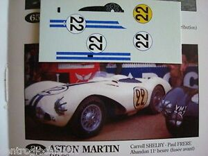 DECALS-KIT-1-43-ASTON-MARTIN-DB3S-LE-MANS-1954-C-SHELBY