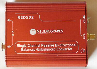 Bereidwillig Studio Spares Red502 Single Channel Balanced - Unbalanced Convertor Levendig En Geweldig In Stijl