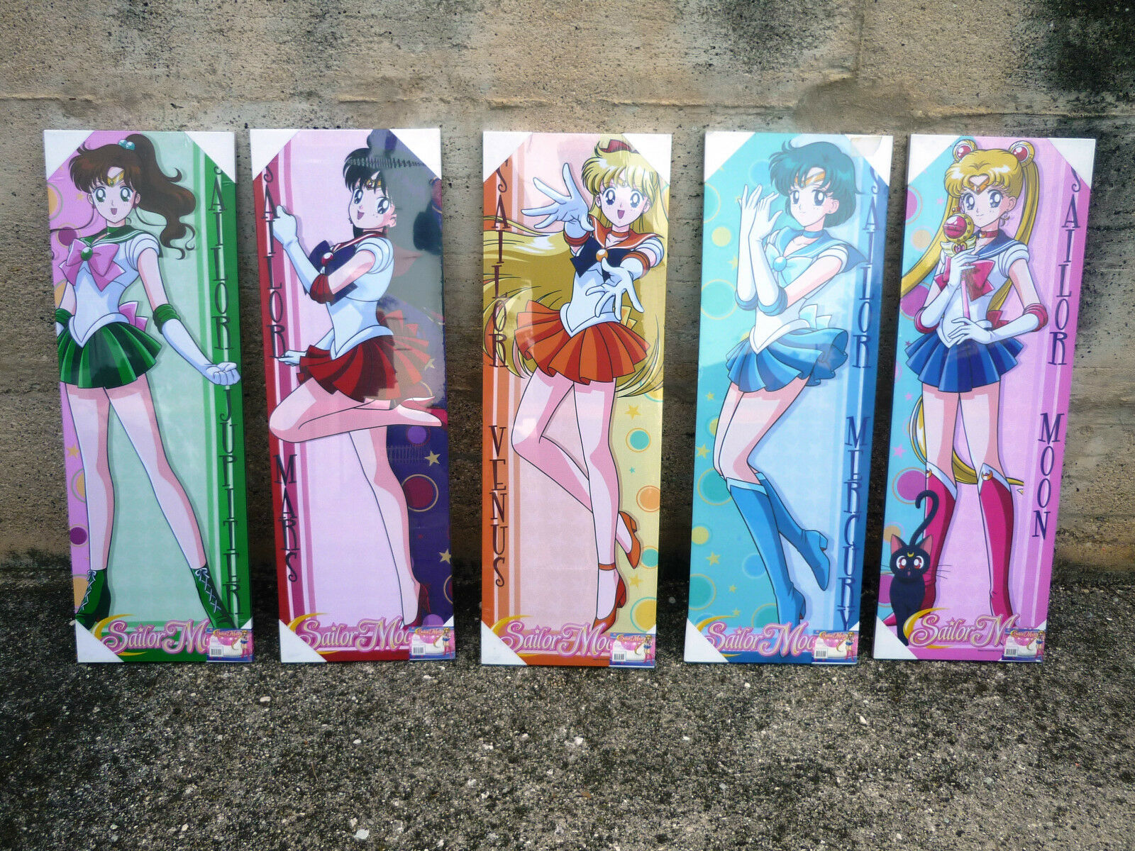 SAILOR MOON JUPITER VENUS MARS MERCUY ANIME  SU TELA ANIME WALL ART DECOR