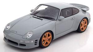 Gt Spirit 1998 Porsche Ruf Turbo R Gris En 1/18 Echelle Le De 1500 Neuf ! Stock