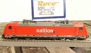 Roco-62502-Elektrolokomotive-BR-185-222-7-der-DB-AG-RAILION-mit-DSS-und-LED-OVP