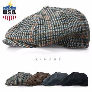 2566195caf7 Applejack Wool Houndstooth Plaid Ivy Hat Gatsby Cap Golf Cabbie Flat ...