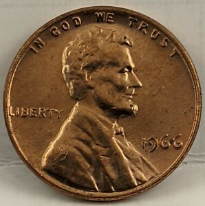 1966 LINCOLN CENT RED Double Die Clash & Cud Errors