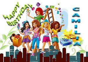 Image Is Loading LEGO FRIENDS Personalised Birthday Greeting Card A5 Friend