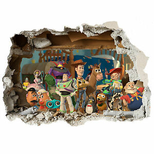 Pleasant Toy Story Wall Stickers Kids Bedroom Decor