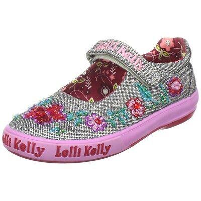 Lelli Kelly Fuchsia Glitter B Vel Pink Shoe VF1365 Sneakers Tennis NEW Beaded