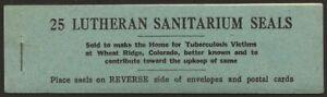 USA-1921-Lutheran-Sanatorium-Wheatridge-CO-TB-Xmas-Seal-Full-BOOKLET-F-VF-NH
