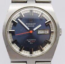 VINTAGE Tissot PR516 GL Automatic Mens 36mm Steel Watch Original Bracelet c.796