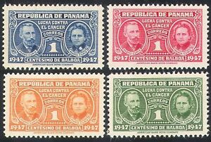 Panama-1947-Cancer-Medical-Health-Curie-4v-set-n28427