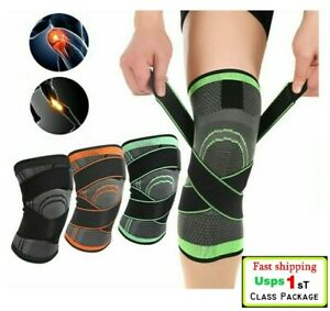 3D-Weaving-Leg-Knee-Brace-Breathable-Sleeves-Support-Running-Jogging-Sports-USA