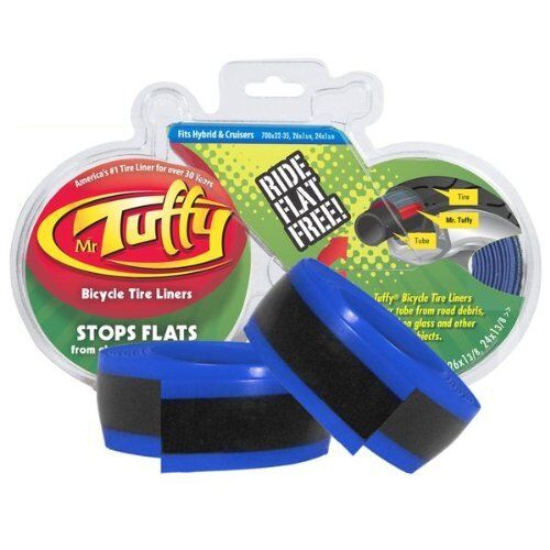 Mr Tuffy Bicycle Tire Liners Pair BLUE 26-24 x 1 3//8