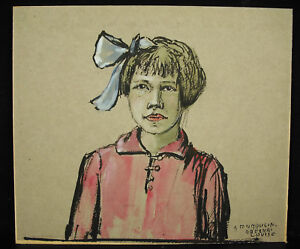 Georges-Dumoulin-1882-1959-Portraet-eine-Louise-ab-Obernai-c1925-Aquarell-Ori