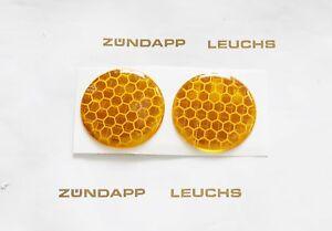 Zündapp 3d Reflektor Aufkleber Orange Lampenmaske Zd 20 40
