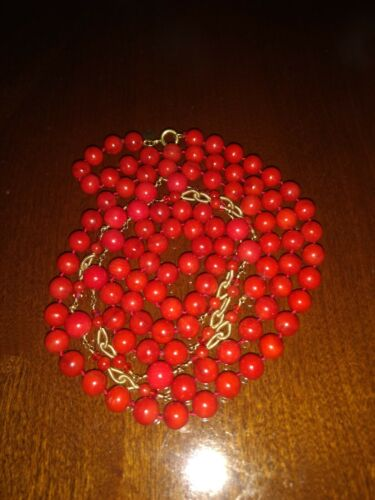 MIguel Ases Red Long Fashion Necklace