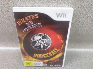 Pirates-Vs-Ninjas-Dodgeball-Complete-Nintendo-Wii-Game-PAL-Oz-Seller
