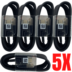 5Pack USB-C Type C Charger Charging Cable Cord 4Ft Lot For Samsung S10 S9 S8 LG