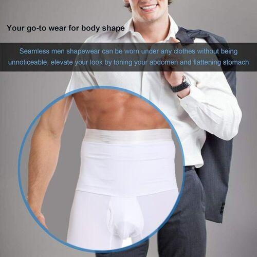 Men/'s Compression High Waist Boxer Shorts Tummy Control Body Shaper Girdle Pants