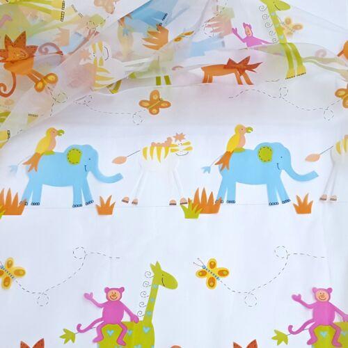 Voile visillos tela transparente con plomo banda 280cm ancha tela niños METERWARE