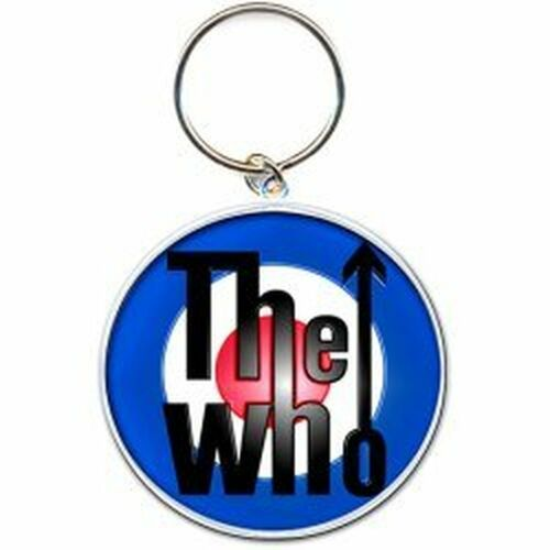 The Who bersaglio occhio di bue ufficiale logo portachiavi in metallo