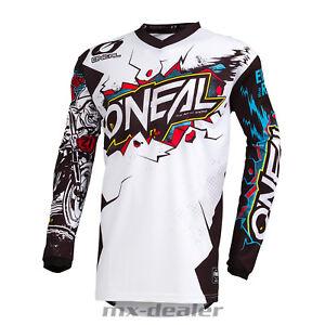 2019-o-039-Neal-Element-Villain-Bianco-Giallo-Jersey-Jersey-Mx-Motocross-MTB-Dh