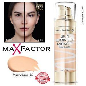 Nuevo-Luminizer-Piel-Max-Factor-Milagro-Foundation-Sombra-De-Porcelana-30-Sellado-30ml