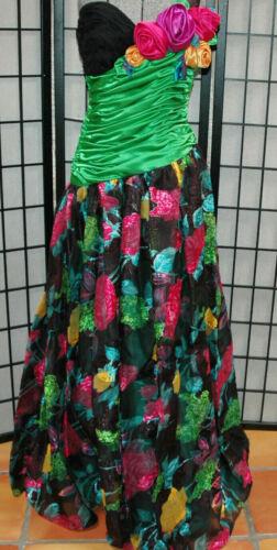 Vintage Eugene Alexander Dress 1980s Strapless Coc