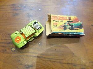 MATCHBOX No.13 Buggy Baja Noir Échappement BOXED (sorte de)