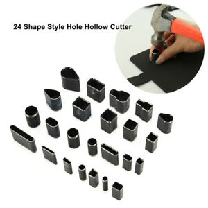 24-Shape-Style-Hole-Hollow-Cutter-Punch-Set-for-Handmade-Leather-Craft-DIY-Tool
