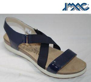 SALE Ladies Navy Blue Leather