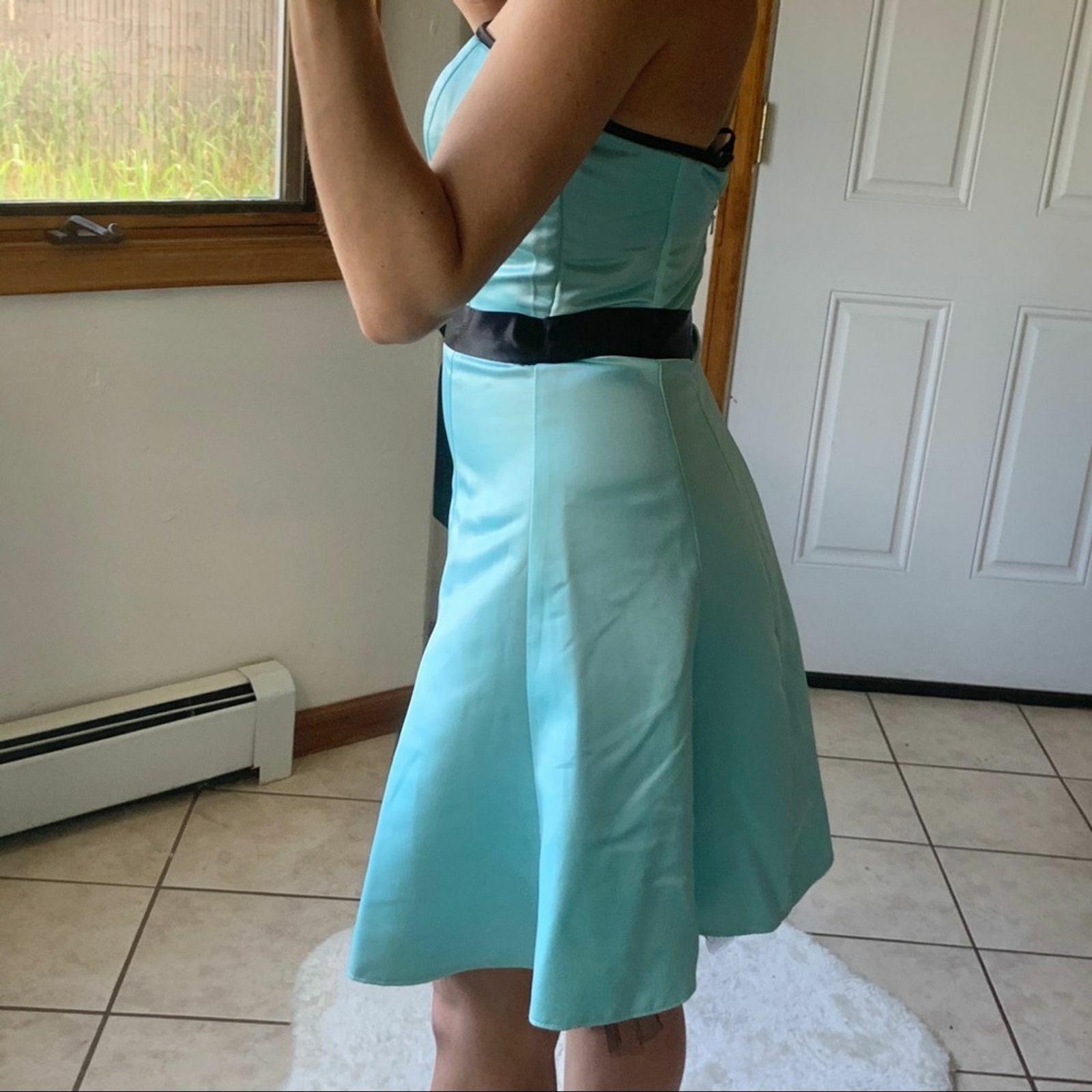 Vtg Jessica McClintock Gunne Sax Blue Formal Dres… - image 6