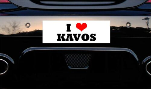 STICKER PRINTED CAR DECAL JOKE FUNNY 150x50mm approx I LOVE KAVOS