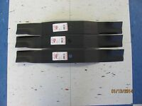 3 Usa Blades-gravely 48864 8781851- Set For 60 With Fabricated Deck- Mulchers