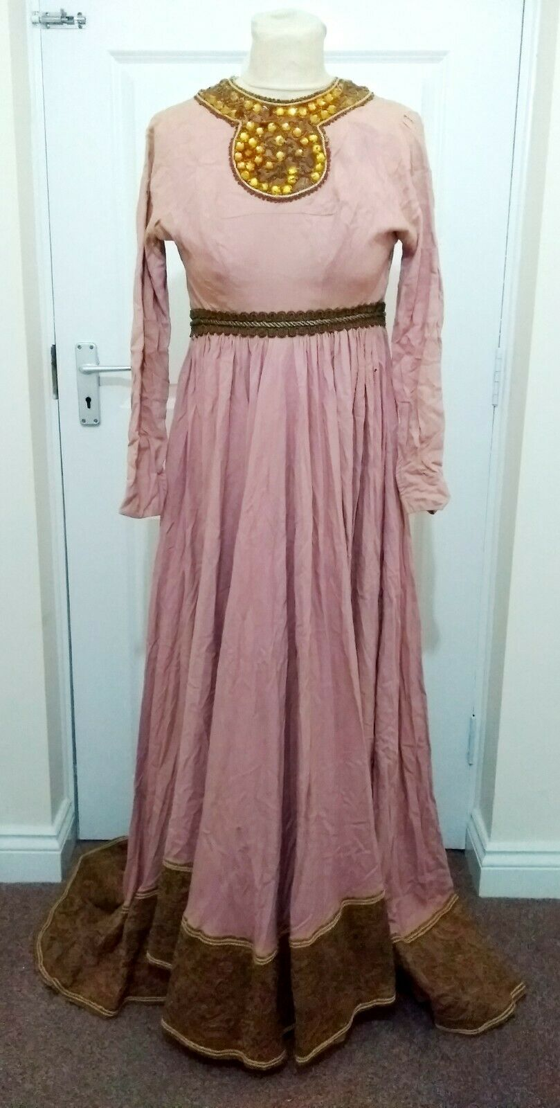 Vintage Ladies Medieval Costume - Pink - Size XS - Western Costume Co.