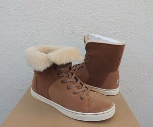 836cd1d49d7 Details about UGG CHESTNUT CROFT SUEDE SHEEPSKIN LINED ANKLE SNEAKER BOOTS,  US 6.5/ 37.5 ~NIB