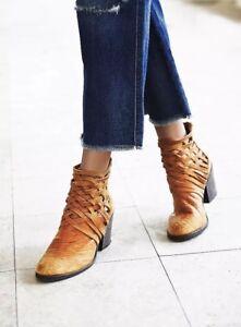 Free People Women's Brown Carrera Heel Boot size 35