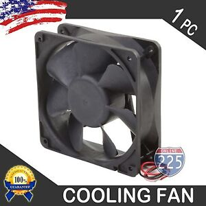 """4PCS 6/"""" Square Cooling Fan with 1/"""" Depth 12 Volt Rotary Amplifier Computer QUIET"""