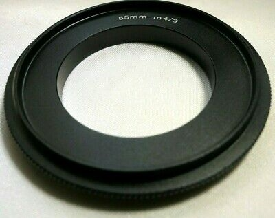 55mm m4//3 Reverse Ring 55mm Macro Reverse Lens Adapter Ring for M4//3 Micro Four Thirds Camera E-PL1 GH5