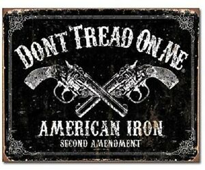 Don-039-t-Tread-on-Me-American-Iron-Second-Amendment-Revolver-Gun-Tin-Metal-Sign-New