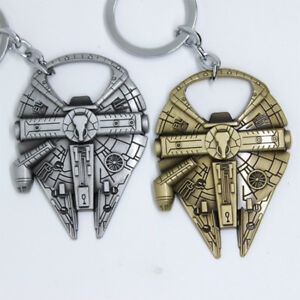 Details about Millenium Falcon Airship Model Metal Keychain Bottle Opener  KeyChain Gold Silver