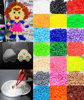 1Set Hama Perler Beads Kids DIY Funny Crafts Car P-together Creative Toys New