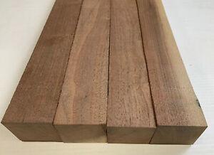 4-Pack-Set-Black-Walnut-Lumber-Board-Turning-Wood-2-034-x-2-034-x-12-034-FREE-SHIP